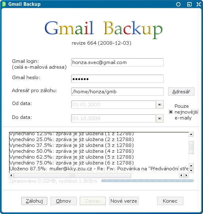 Gmail Backup  Safer is better